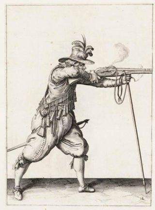 Musketier aan het begin van de 17e eeuw - Jacob de Gheyn