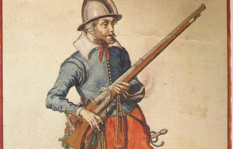 Musketier met een musket - Jacob van Gheyn, 1608