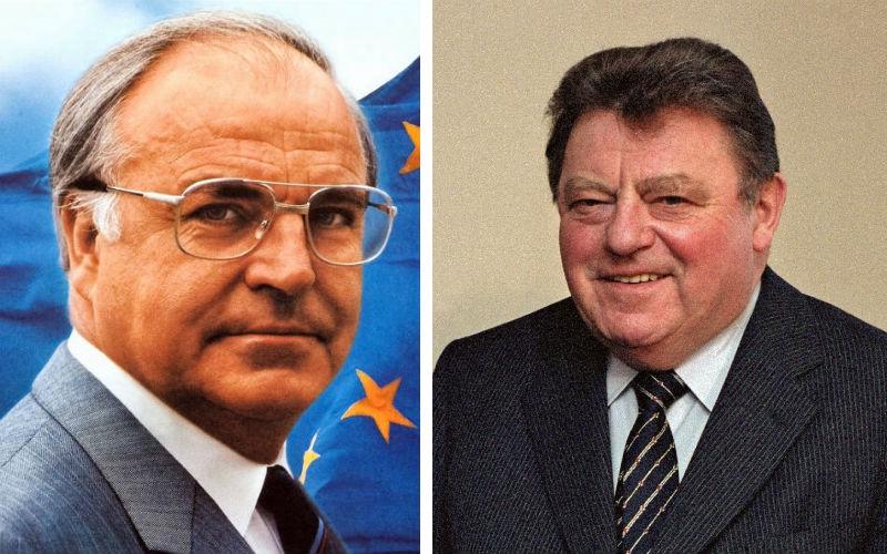 Helmut Kohl en Franz Josef Strauß