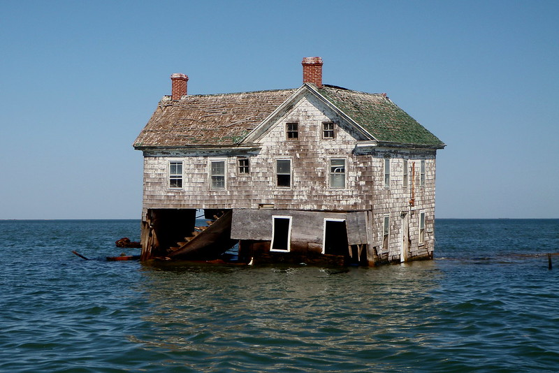 Het laatste huis van Holland Island half onder water, 2010