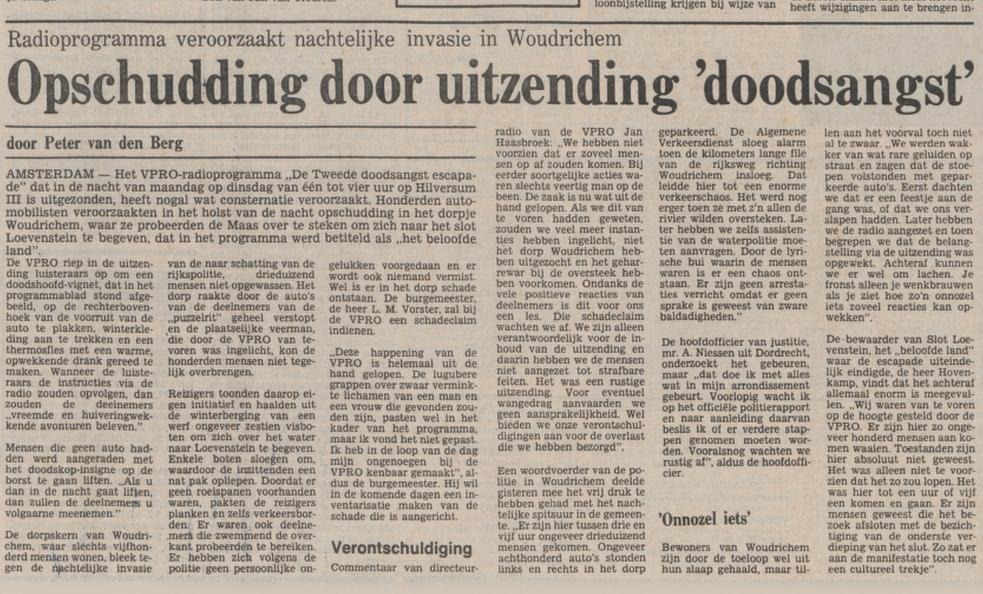 Bericht in Trouw over de ontstane chaos, 11-01-1978 (Delpher)