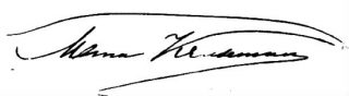 Handtekening van Mina Kruseman