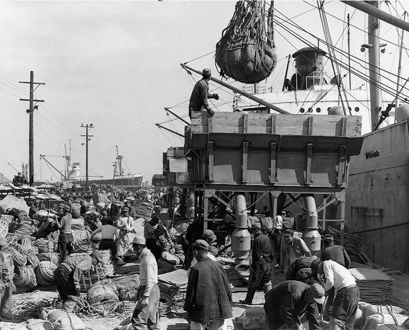 Havenarbeiders in de jaren '40-'50 - Stadsarchief Rotterdam
