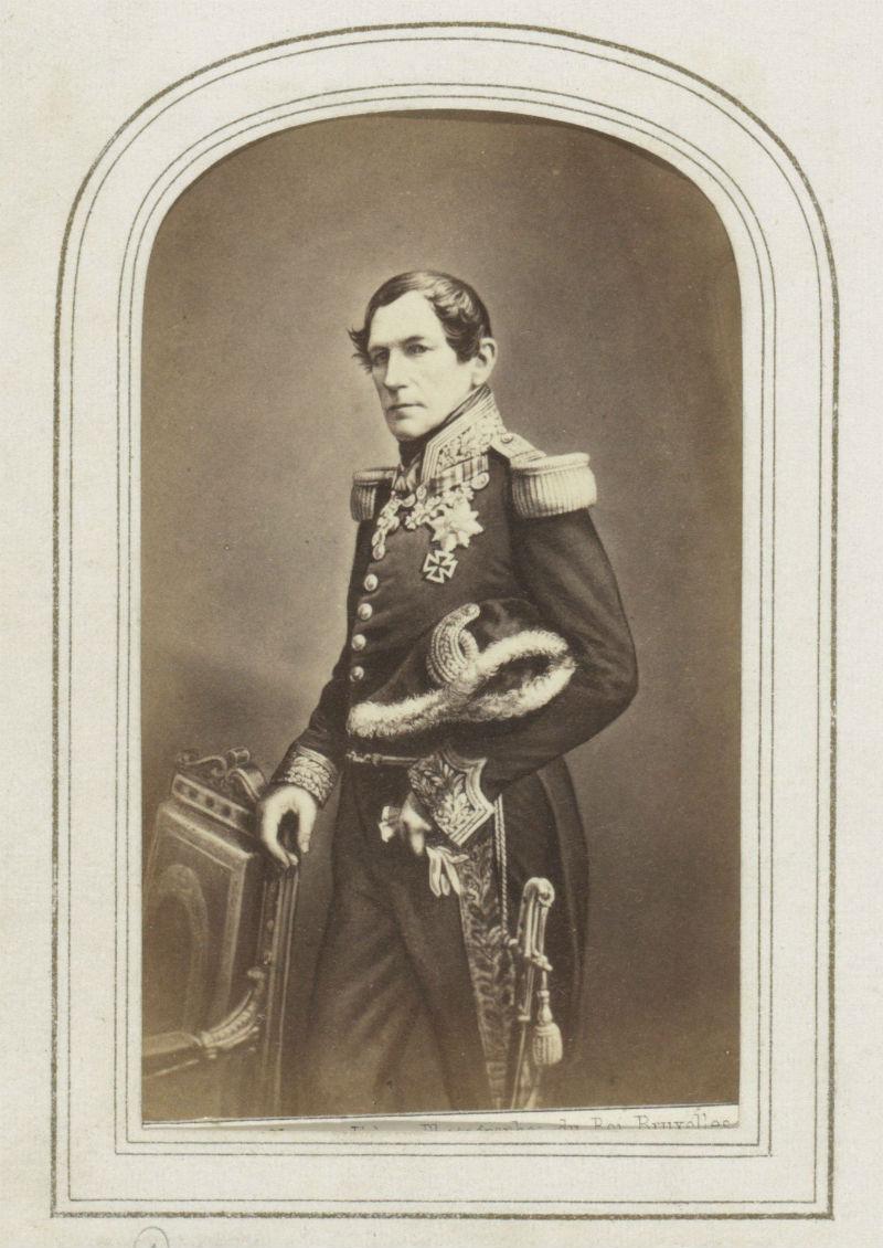 Portret van Leopold I, koning van België, Ghémar Frères, 1855 - 1875