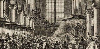 Predikant van preekstoel af geschoten in Amsterdam (1755)