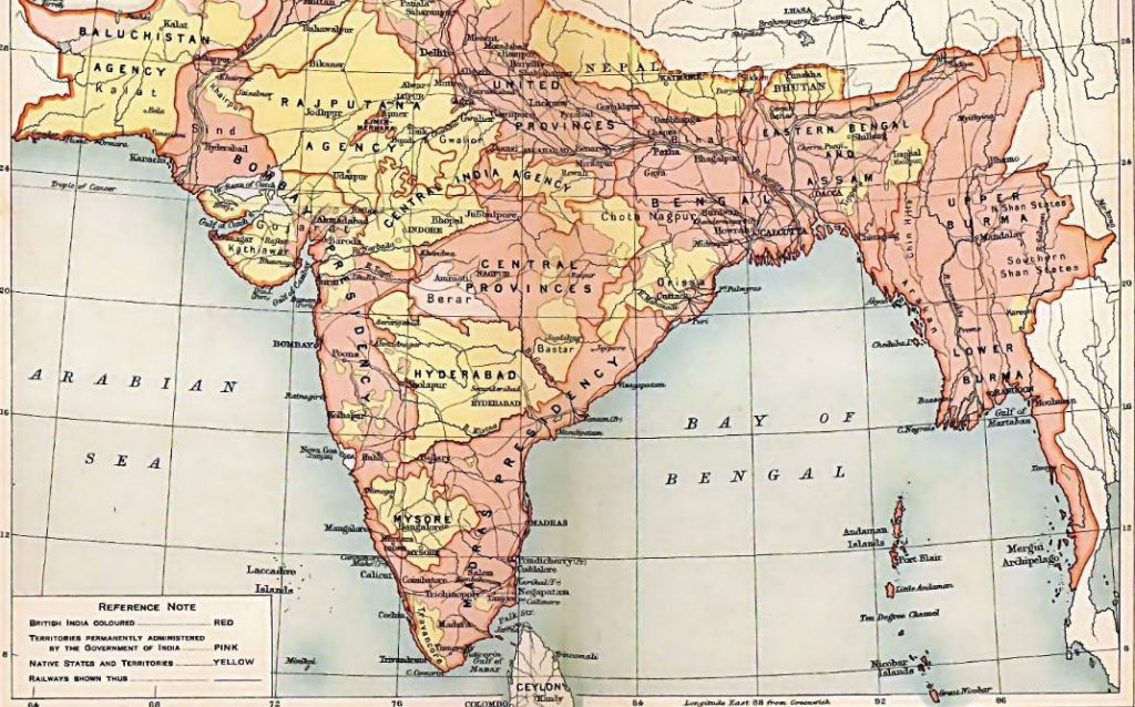 Voorbeeld van een vestigingskolonie - Brits-Indië in 1909