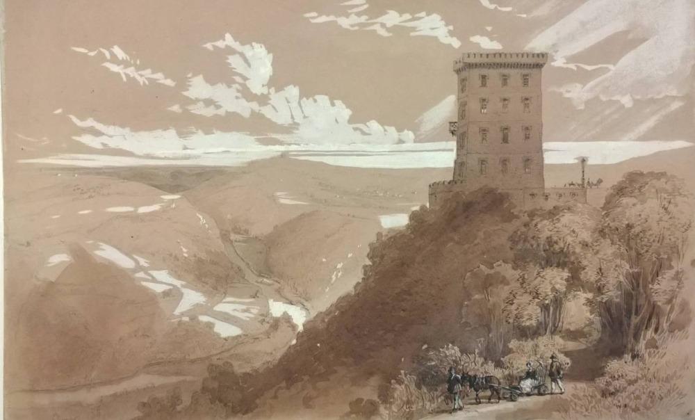 Zicht op de Ardennen door Louis Ghémar