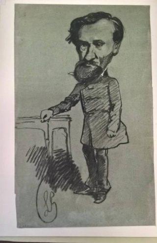 Louis Ghémar - Spotprent van zichzelf