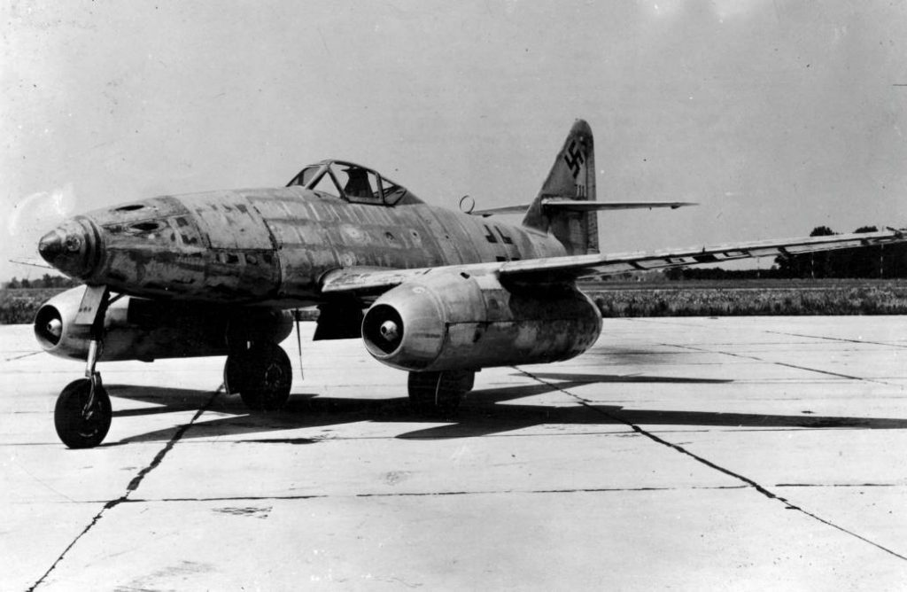 Een Messerschmitt Me 262 straaljager