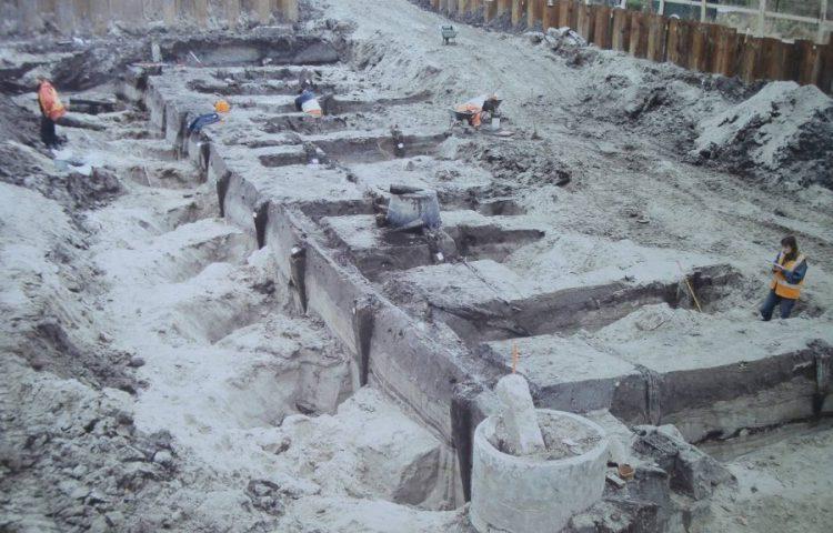 Opgravingen van de haven van Forum Hadriani in 2007-2008