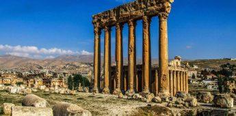 Romeinse tempelruïnes in Baalbek