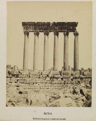 Zes zuilen van de tempel van Jupiter, circa 1860