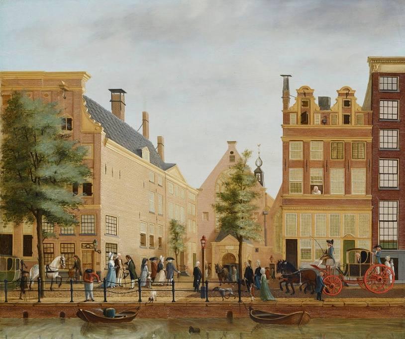 Waalse kerk aan de Oudezijds Achterburgwal in Amsterdam, circa 1758-87