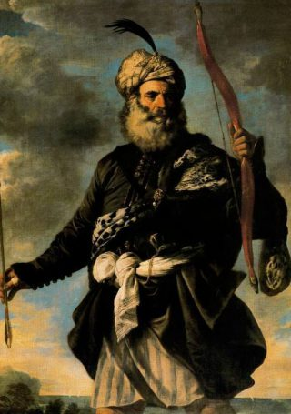 Barbarijse zeerover - Pier Francesco Mola, 1650