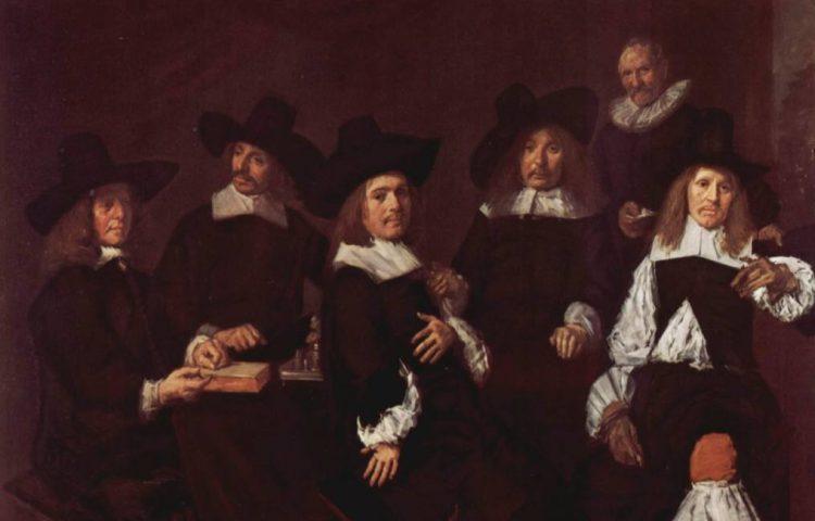 Regenten - Groepsportret van de regenten van het Oudemannenhuis in Haarlem door Frans Hals uit 1664 - Frans Hals