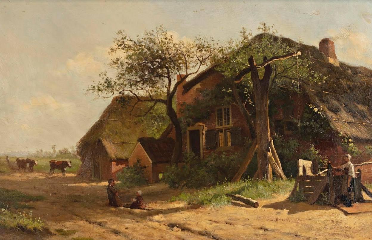 Landschap met boerderij te Dongen - Karel Klinkenberg (Stedelijk Museum Breda)
