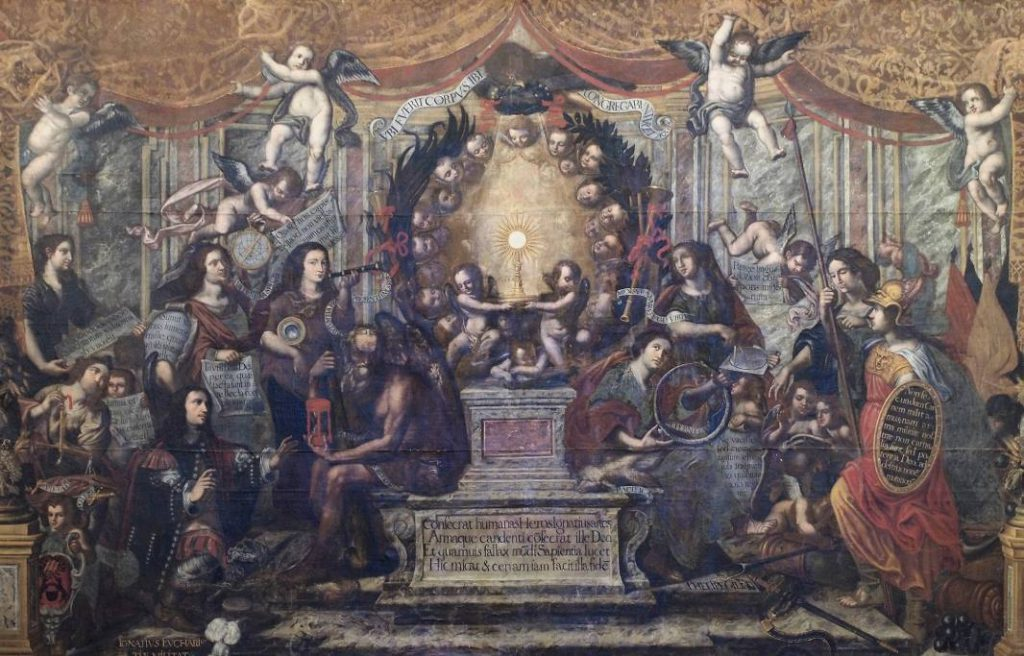 Contrareformatie - Trimof van de eucharistie - Felipe Gil de Mena (1603-1673)