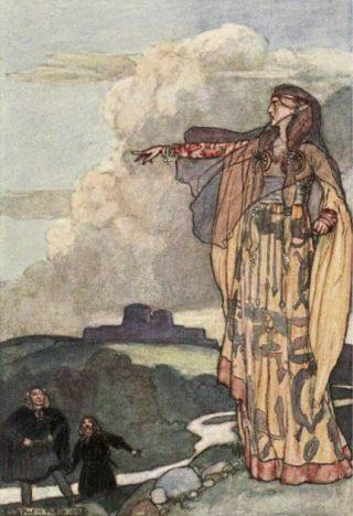 De oorlogszuchtige Macha, Ierland - Stephen Reid, 1904
