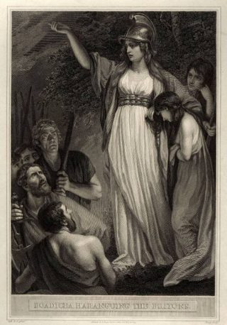 De Keltische koninign Boudica - William Sharp, 1793