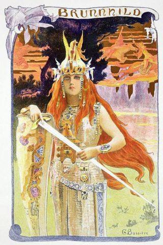 De schildmaagd Brunhilde - Romantische verbeelding door Gaston Bussière, 1897