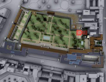 3D-beeld van de Führerbunker in Berlijn