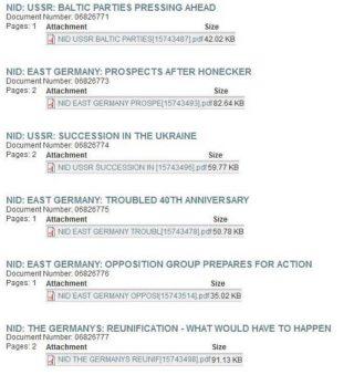 Overzicht van vrijgegeven NID-verslagen.