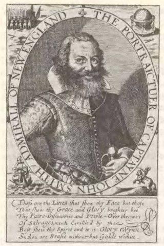 John Smith op een oude gravure