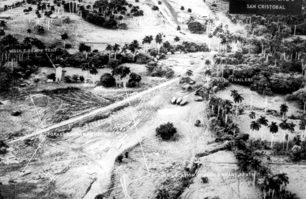 Cubacrisis - Spionagefoto van de lanceerinrichtingen op Cuba genomen op 1 november 1962