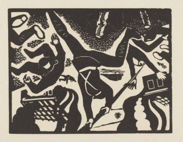 Prent uit een serie 'Tegen oorlog en fascisme', 1933-1935
