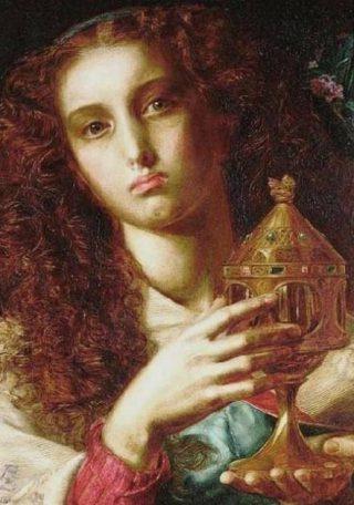 Heilige Graal - Frederick Sandys, 1861