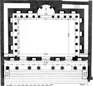 Plattegrond van de bibliotheek van Celsus