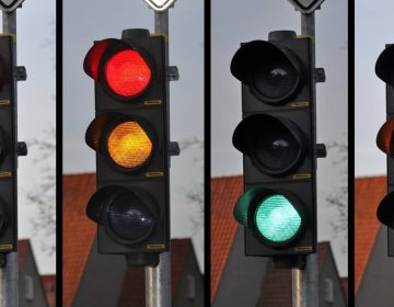 Verkeerslicht in verschillende standen