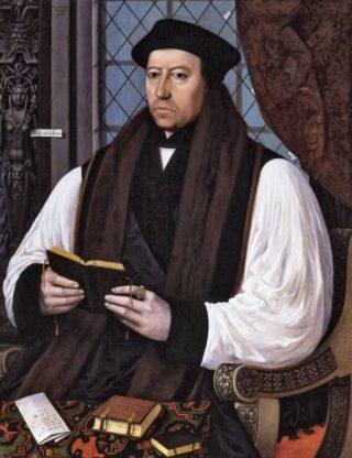 Portret van Thomas Cranmar door Gerlach Flicke, 1545