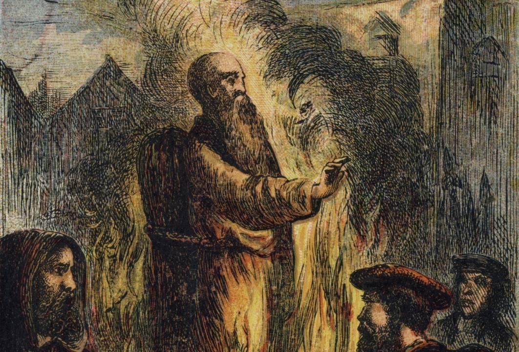 De dood van aartsbisschop Thomas Cranmer - Joseph Martin Kronheim, ca. 1887