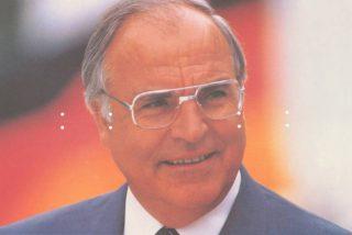 Helmut Kohl op een verkiezingsaffiche uit 1989