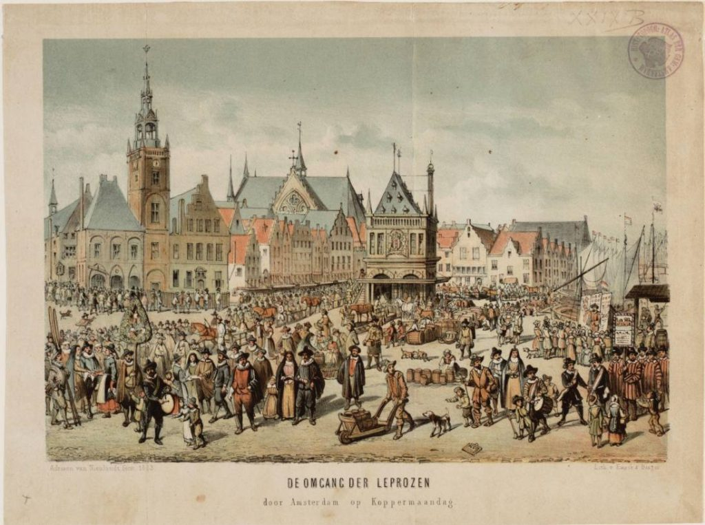 De omgang der leprozen door Amsterdam op Koppermaandag