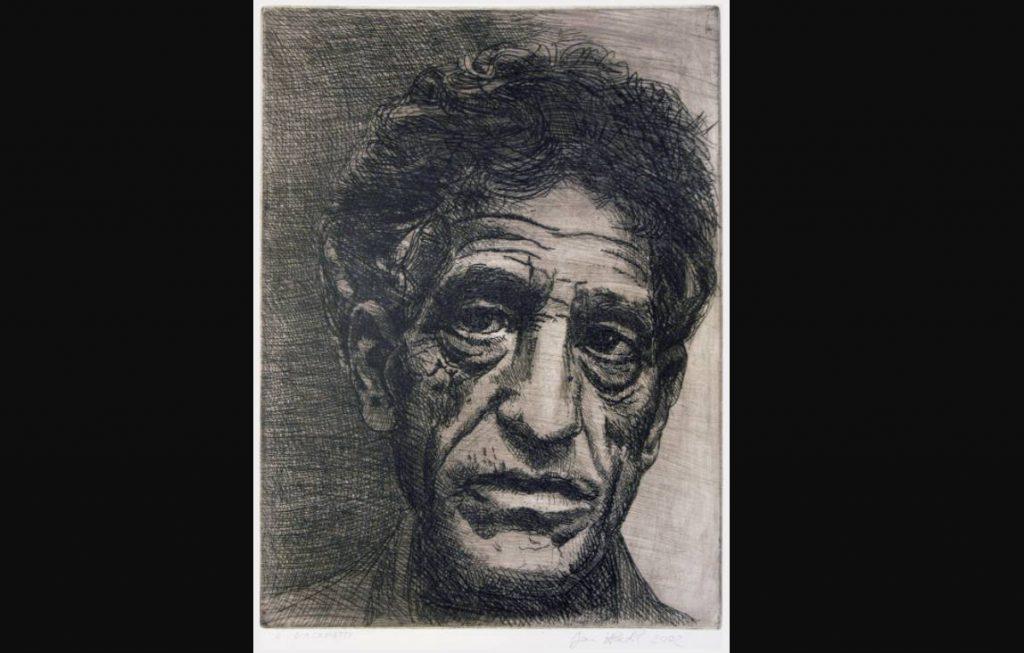 Alberto-Giacometti, ets door Jan Hladík, 2002