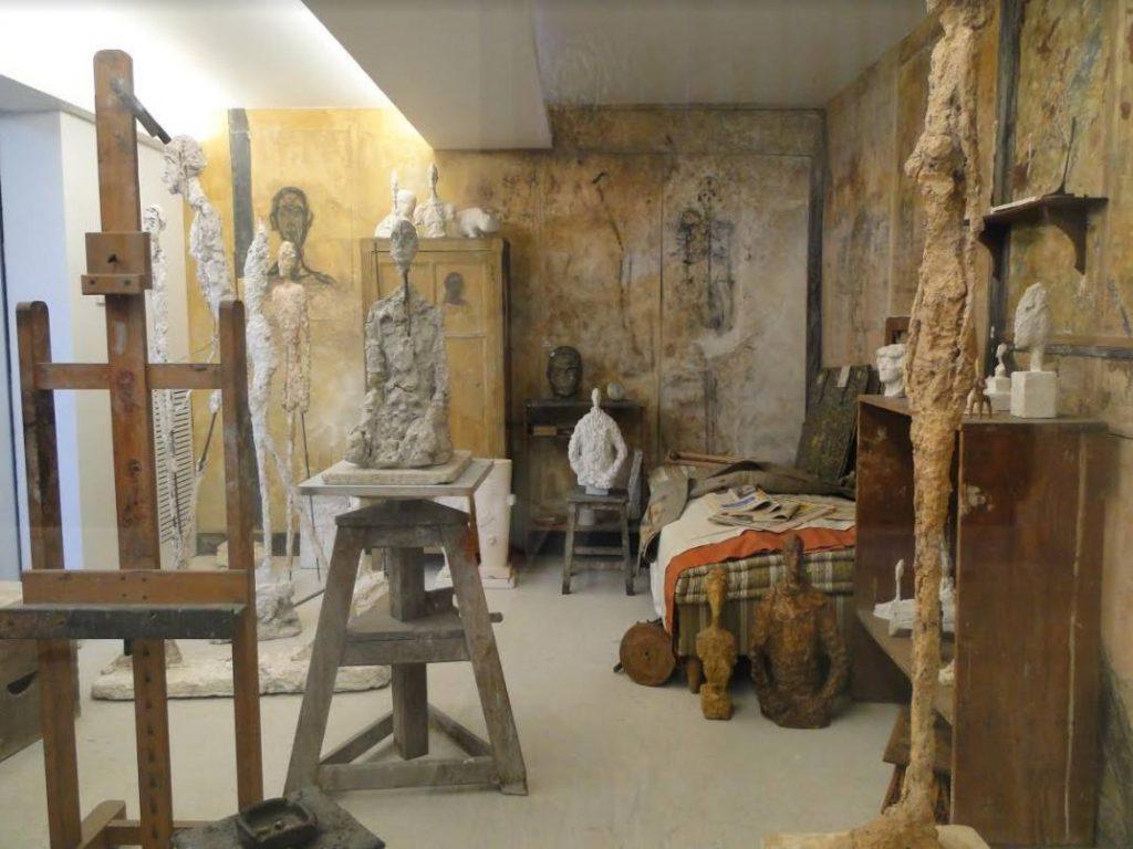 Overgebrachte atelier van Giacometti