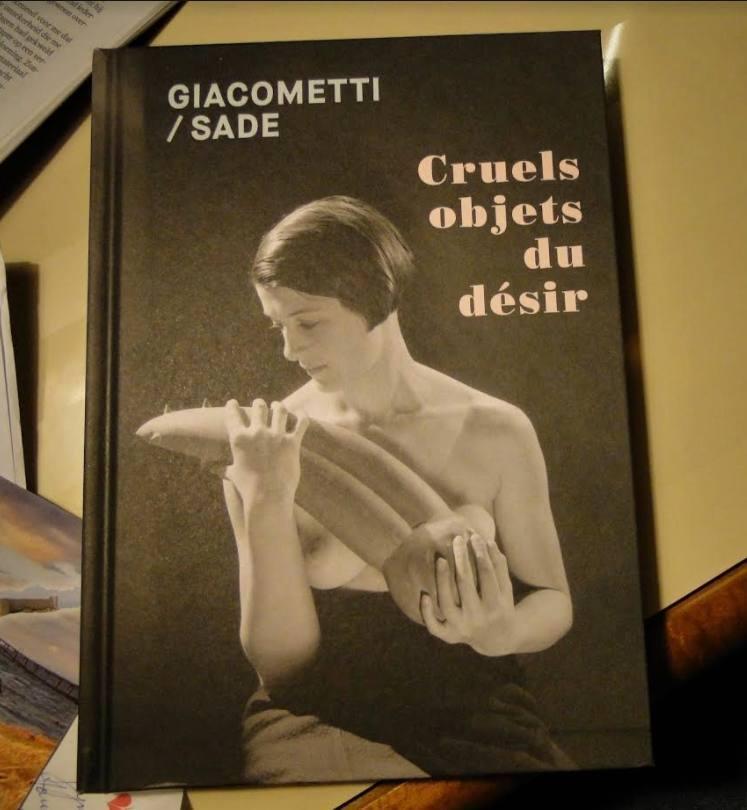 Boek bij de tentoonstelling Giacometti/Sade