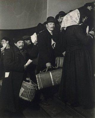 Ellis Island - Aankomst van Europese immigranten, 1908