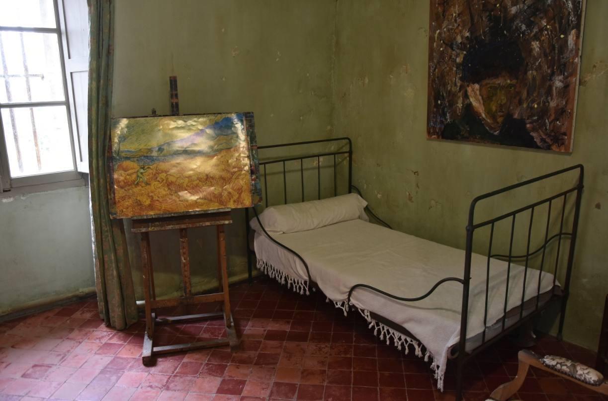 Kamer van Vincent van Gogh in Saint-Paul-de-Mausole,  Saint-Rémy-de-Provence