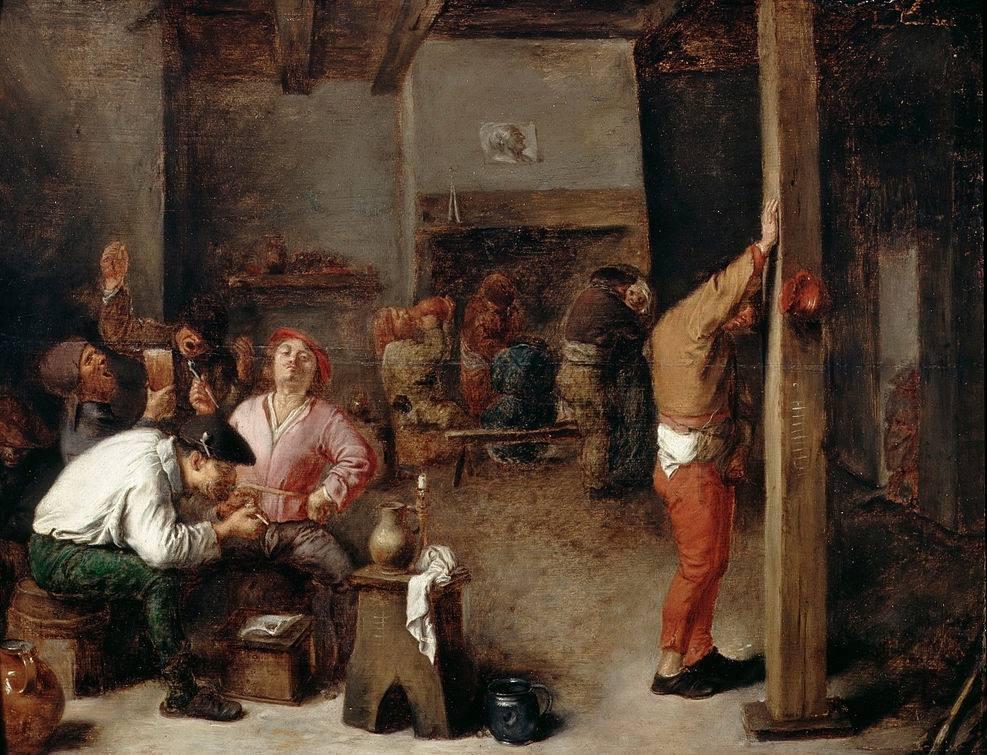 Zeventiende-eeuws werk met kenmerken van het realisme - Adriaen Brouwer, circa 1630