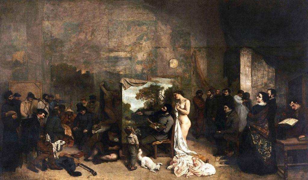 Het atelier van de schilder (L'Atelier du peintre) -  Gustave Courbet, 1855