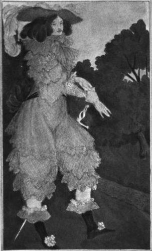 Fictief negentiende-eeuws portret van La Maupin als schermster