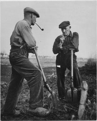 Marshallhulp in Nederland; werken aan een drooglegging.