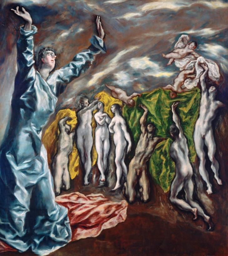 Het visioen van Johannes of De opening van het vijfde zegel, 1608-1614 - El Greco