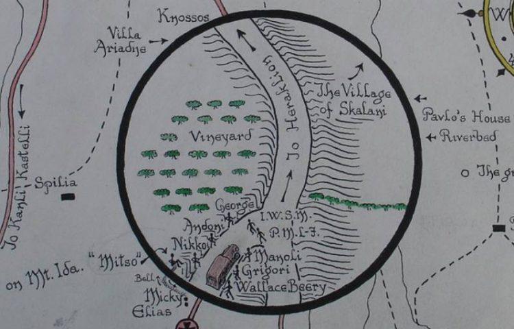 Detail van een tekening van het ontvoeringsplan