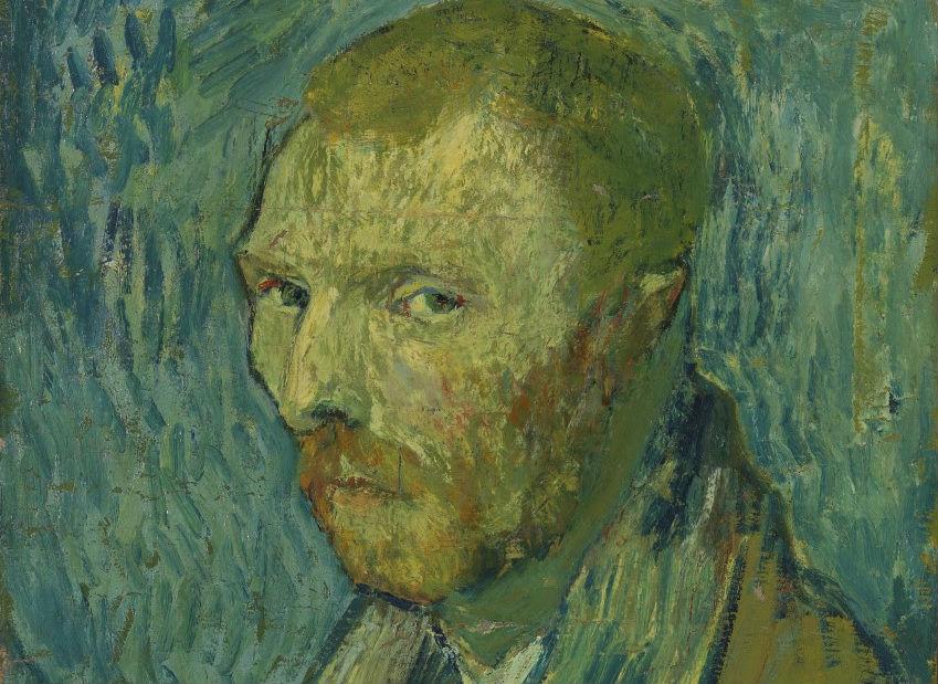 Vincent van Gogh, Zelfportret, 1889, olieverf op doek, 51,5 x 45 cm, Nasjonalmuseet for kunst, arkitektur og design, Oslo - detail