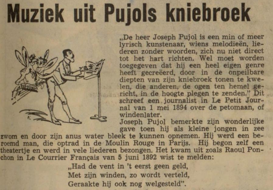 Artikel over Pujol in het Nieuwsblad van het Noorden van  15 maar 1969 (Delpher)