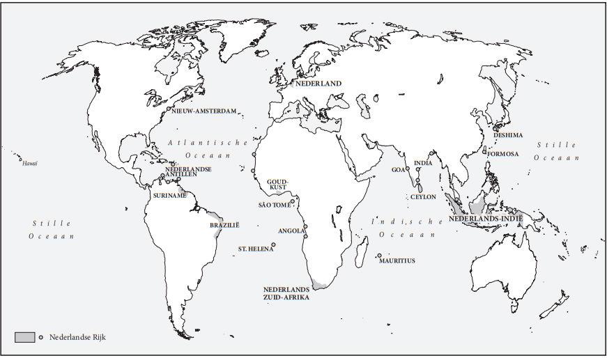 Het rijk van de  Nederlandse Republiek (Kaart uit boek / Omniboek)